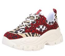Sneaker 'wave 01' schwarz / weiß / rot