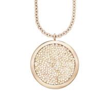 Halsschmuck: Kette mit Anhänger mit Swarovski Kristallen gold / rosé