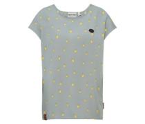 Shirt mit Muster gelb / hellgrau