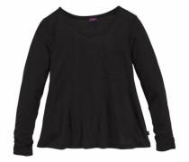 Langarmshirt aus weicher Viskose schwarz