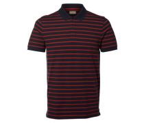 Klassisches Poloshirt blau / rot
