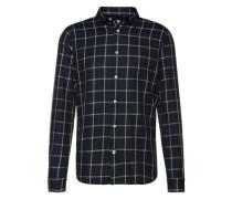 Hemd 'grid check shirt' schwarz