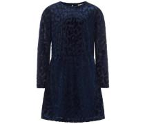 Kleid Leo-Velours blau
