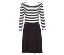 Gestreiftes Kleid 'nia' schwarz / weiß
