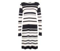 Kleid mit Streifen-Design weiß / blau
