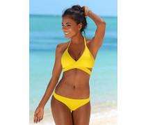 Triangel-Bikini gelb