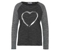 Jersey-Shirt schwarz / weiß