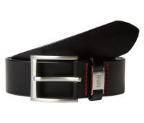 Ledergürtel mit Dornschließe 'C-Connio' schwarz