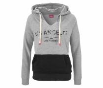 Kapuzensweatshirt grau / schwarz