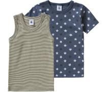Doppelpack Unterhemden für Jungen blau