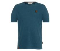 T-Shirt 'Dirty Italienischer Hengst' blaumeliert
