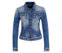 Jeansjacke mit Used-Waschung blau