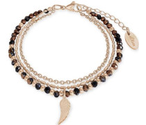 Armband »Flügel 2012537« rosegold / schwarz