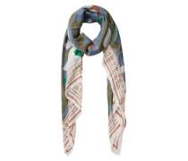 Langer bedruckter Schal mischfarben