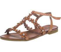 Sandalen mit Blumendetails chamois / braun