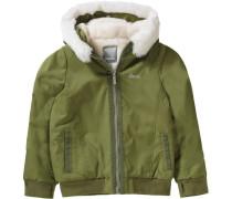 Winterjacke für Mädchen khaki / wollweiß