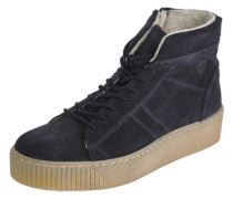 Sneaker aus Veloursleder navy