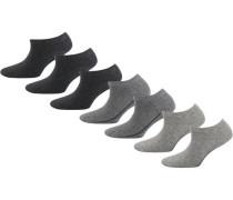 7 Paar Sneaker Socken grau