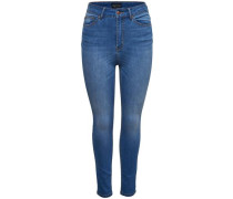 Skinny Fit Jeans 'Pearl high waist' blue denim