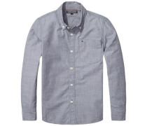 Hemd 'ame DG Thdm Basic Solid Shirt L/s' hellgrau