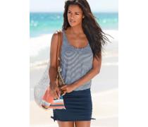 Badeanzug-Kleid marine / weiß