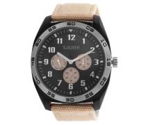 Armbanduhr 'so-2371-Lm' hellbeige / schwarz