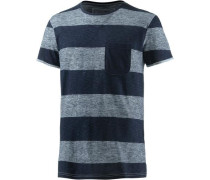 T-Shirt navy / weißmeliert
