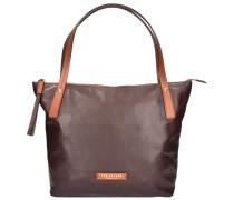 Calypso Shopper Tasche Leder 40 cm braun