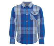 Hemd blau / hellblau / hellbraun / rot