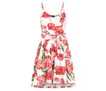 Sommerkleid 'Nux' rot / weiß