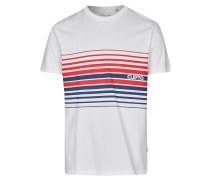 Shirt 'Fade Away' weiß / blau / rot