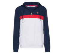 Jacke mit Kapuze 'Cipolla' dunkelblau / rot / weiß