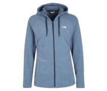 Kapuzen-Sweater 'Mezzaluna' blau