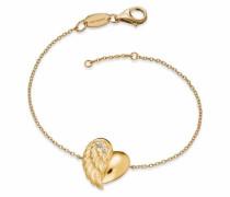 Armband 'Herzflügel Erb-Lilheartwing-G' gold
