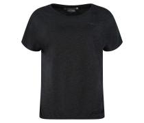 T-Shirt 'Marble' schwarzmeliert