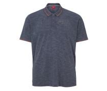 Meliertes Poloshirt taubenblau