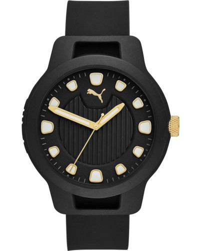 Uhr 'Reset V1 P5033' schwarz / gold