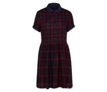 Karo-Kleid 'Philipa' nachtblau / rot