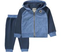 Baby Jogginganzug für Jungen navy / blaumeliert