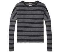 Sweatshirt im Streifenlook basaltgrau