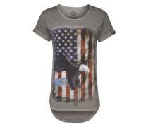 T-Shirt mit Print grau