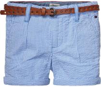 Shorts »Pacific Check Mini Short« rauchblau / weiß