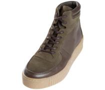 Hoher Leder Sneaker mokka