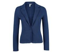 Sweatjacke im Blazer-Look blau