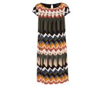 Kleid mit graphischem Muster mischfarben