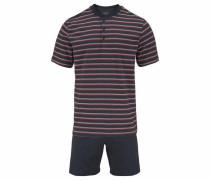 Pyjama kurz Shorty mit Streifen