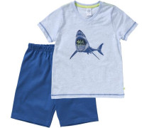 Schlafanzug navy / hellblau