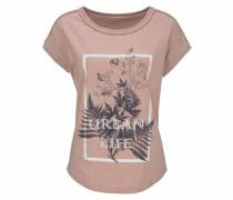T-Shirt nachtblau / altrosa / weiß
