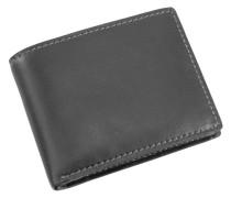 Toscana Geldbörse Leder 13 cm schwarz