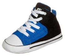 'Chuck Taylor First Star High Street' High Sneaker Kleinkinder blau / schwarz